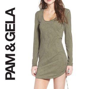 Pam & Gela🔸Sexy Drawstring Hem Body-Con Dress!